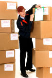 Postal service delivery Royalty Free Stock Image