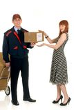 Postal service delivery Stock Photo