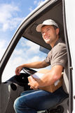 Postal service - delivery of a package. Through a delivery service Stock Images