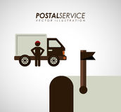 Postal service design Royalty Free Stock Photos