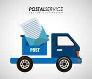 Postal service design Royalty Free Stock Photography