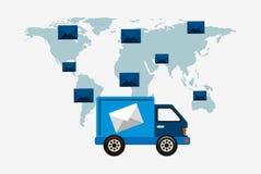 Postal service design Stock Photography