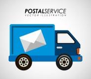 Postal service design Stock Images