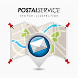Postal service design Royalty Free Stock Photo