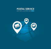 Postal service design Royalty Free Stock Photos
