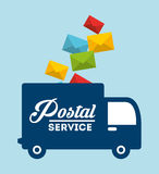 Postal service design Stock Photos