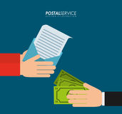 Postal service design Stock Photo