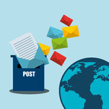Postal service design Royalty Free Stock Images
