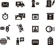 Postal Service icons Royalty Free Stock Photos