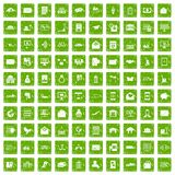 100 postal service icons set grunge green. 100 postal service icons set in grunge style green color isolated on white background vector illustration vector illustration