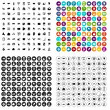 100 postal service icons set vector variant. 100 postal service icons set vector in 4 variant for any web design isolated on white vector illustration