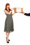 Postal service, woman Royalty Free Stock Image