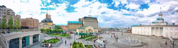 Postal Square in Kiev. Poshtova Square in Kiev, the capital of Ukraine, is one of the oldest historic squares of the city. Archaeological findings are dated back stock image