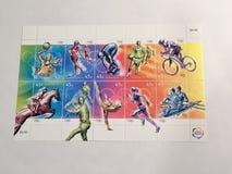 Postal stamp of Australia stock photo