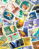 Postal stamps. On a bunch Stock Photos