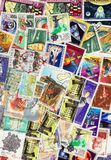Postal stamps. On a bunch Royalty Free Stock Images