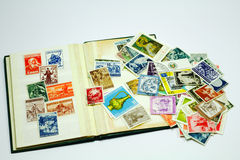 Postal stamps Stock Photography