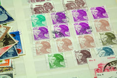 Postal stamps Stock Photo