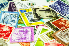 Postal stamps Royalty Free Stock Photography