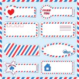 Postal stickers vector Royalty Free Stock Images