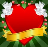 Postal to the day of saint Valentin Royalty Free Stock Photo
