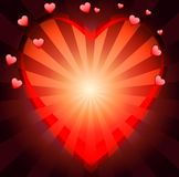 Postal to the day of saint Valentin Royalty Free Stock Image