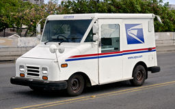 Postal truck. A postal service truck delivering the mail to customers in Honolulu Royalty Free Stock Photo