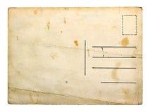 Postal vacía vieja Fotos de archivo libres de regalías