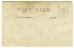 Postal vieja de la vendimia Imagen de archivo libre de regalías