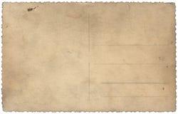 Postal vieja de la vendimia aislada en blanco fotos de archivo