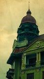Postal vieja de un edificio histórico Timisoara 1 foto de archivo