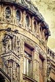 Postal vieja de un edificio histórico Timisoara 13 Imagen de archivo libre de regalías