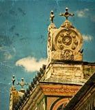 Postal vieja de un edificio histórico Timisoara, Rumania 19 foto de archivo libre de regalías