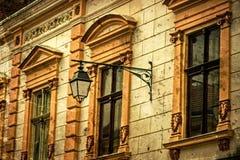 Postal vieja de un edificio histórico Timisoara, Rumania -21 fotografía de archivo libre de regalías