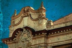 Postal vieja de un edificio histórico Timisoara, Rumania 17 imagen de archivo libre de regalías
