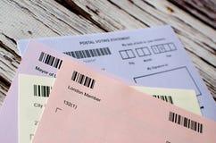 Postal voting London UK Stock Photo