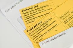 Postal voting London UK Stock Image