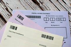 Postal voting London UK Royalty Free Stock Photography