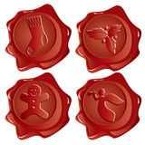 Postal wax stamps Royalty Free Stock Photos