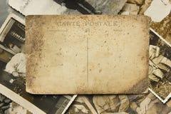 Postal y fotos de la vendimia foto de archivo libre de regalías