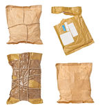 Postale aperto usato scatola della busta del pacchetto della posta Fotografia Stock Libera da Diritti