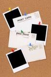 Postales con las impresiones en blanco de la foto Fotos de archivo libres de regalías