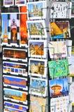 Postales de París Imagen de archivo libre de regalías