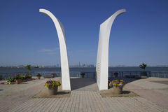 Postales 9/11 monumento en Staten Island Foto de archivo