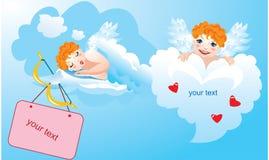 Postales para el día de tarjetas del día de San Valentín ilustración del vector