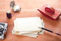 Postales retras de la foto Imágenes de archivo libres de regalías