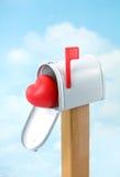 Postanlieferung des Valentinsgrußes lizenzfreie stockfotografie