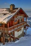 Postavaru Cottage, Poiana Brasov, Romania Stock Photo