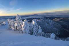 Postavaru mountain, Poiana Brasov resort, Romania Stock Photography