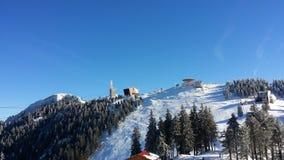 Postavarul mountain. Ski resort in Brasov Royalty Free Stock Image